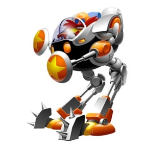 A mech from Sonic CD
